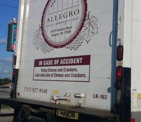 Allegro Wine Truck vinyl